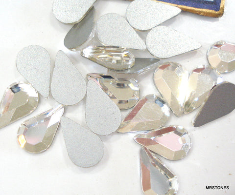 8x4.8mm (2300) Crystal Flat Back Pear Shape