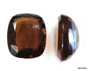 22x18mm (4570/2) Smoked Topaz Antique Cushion Unfoiled