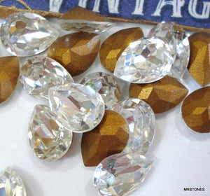 8x6mm (4320) Crystal Pear Pendaloque Shape