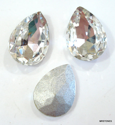18x13mm (4320) Crystal Shallow Cut Pear Pendaloque Shape