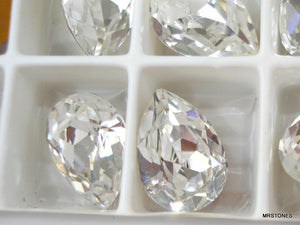 10x7mm (4320) Crystal Pear Pendaloque Shape