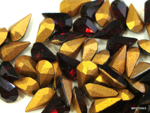 8x4.8mm (4300) Garnet Pear Shape 100pk