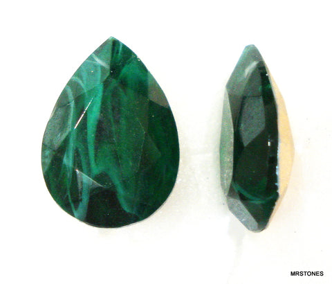 18x13mm (4320/2) Flawed Emerald Pear Pendaloque Shape