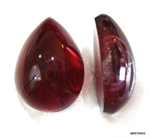 18x13mm (3332) Flawed Ruby Pear Pendaloque Shape Cabochon