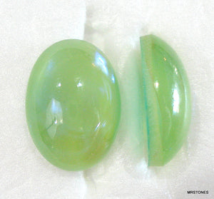 18x13mm (1685) Light Green Moonshine Oval Cabochon