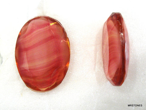 18x13mm (4130/2) Rose Porphry Specialty Oval Shape