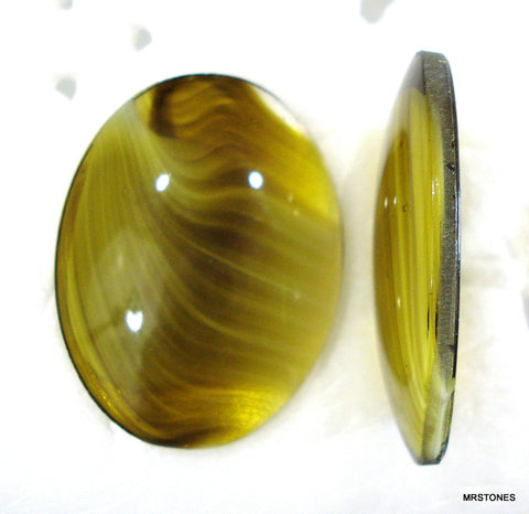 40x30mm (1685) Olivine Porphyr Specialty Oval Cabochon