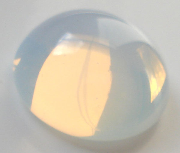13mm (2194) White Opal Unfoiled Round Cabochon