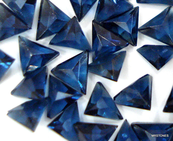 3.5MM (SS09) Simulated Sapphire French Cut Triangles (each or 10-pack)