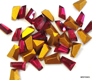 3.75x2.75x2mm (4700) Ruby Tapered Keystone Baguette