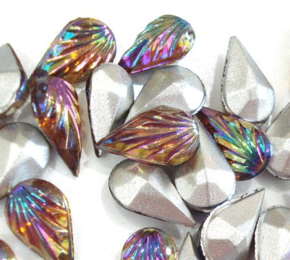10x6 mm (3101) Topaz AB Pear Shape Leaf Leaves