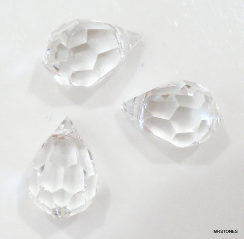10x6mm (SCZ13) Crystal Clear Briolette Bead
