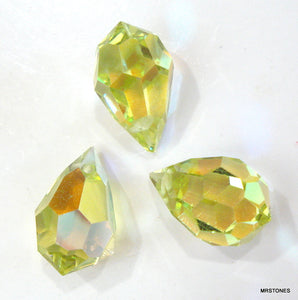 15x9mm (SCZ136) Jonquil AB Briolette Bead