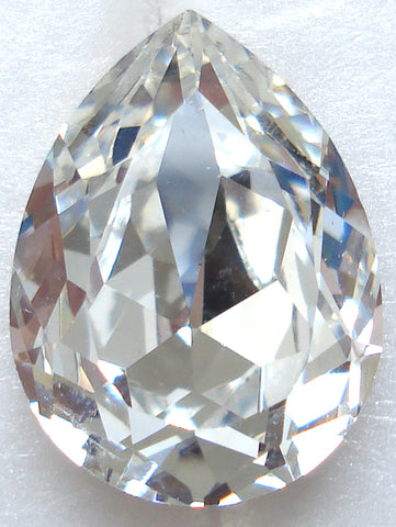 11x8mm (4320) Crystal Pendaloque Pear