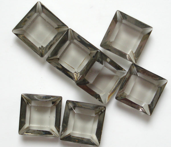 8mm (4404/2) Black Diamond Channel Cut Square Unfoiled