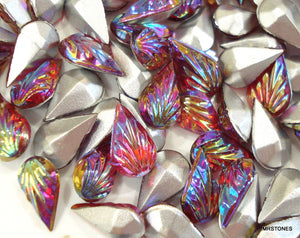 10x6mm (3101) Ruby AB Leaves Pear Shape Tear