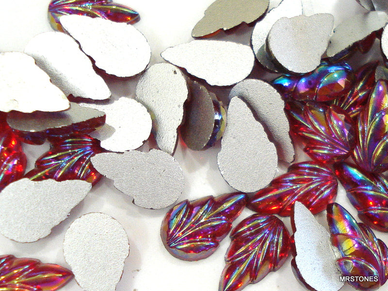 10x6mm (2600) Glass Siam AB Leaves