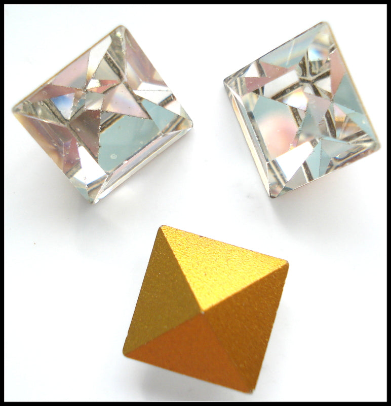 10mm (4400) Crystal Square Shape