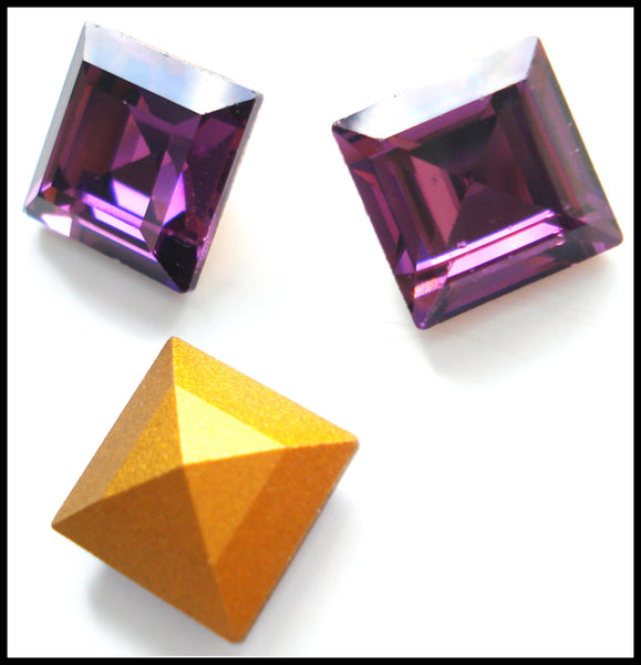 10mm (4410) Amethyst Step Cut Square Shape