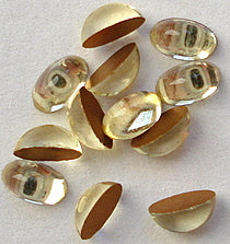 5x3mm (2195) Glass Jonquil Oval Cabochon