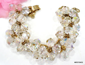 Juliana Bracelet Crystal Rhinestones Crystal AB Dangle Beads