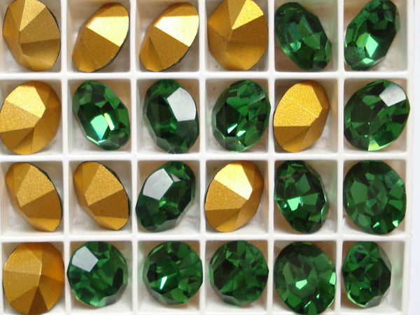 12x10mm (4100) Green Tourmaline Oval Shape