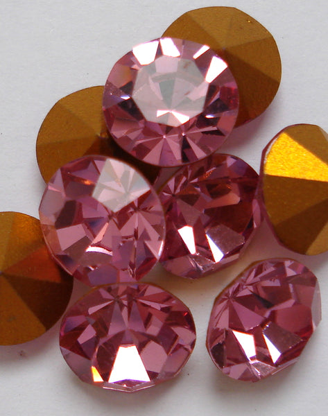 0.9mm (1100) (2PP) Round Pointed Backs 10pk Colors 24pk Crystal