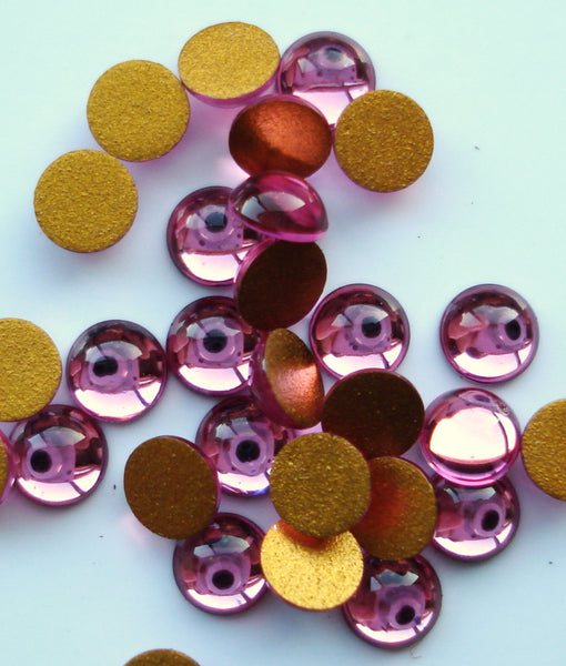 4mm (2194) Rose Pink Round Cabochon
