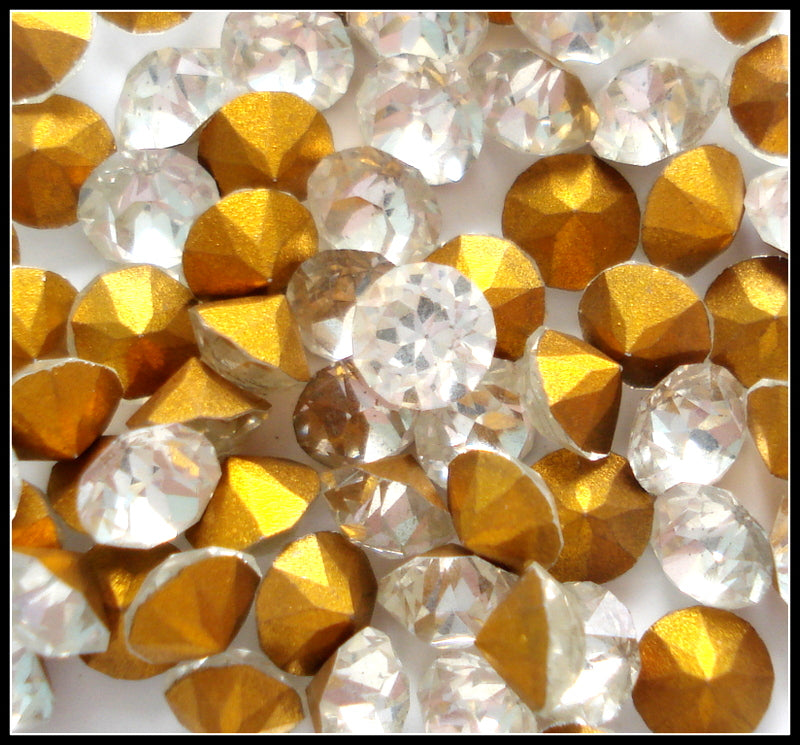 3.3mm (1200) (13SS) Crystal Round Dentelles