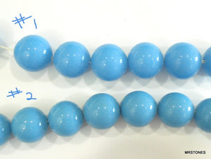 8mm Glass Turquoise Beads