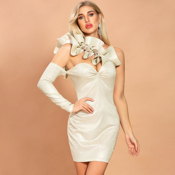 Beige Night Out Dress