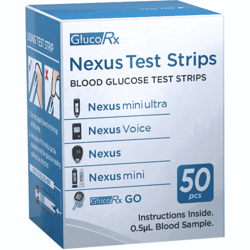 Wellnostics - GlucoRx Nexus Test Strips 50 Pack