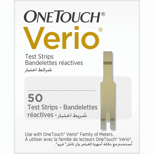 One Touch Verio Test Strips Pack of 50