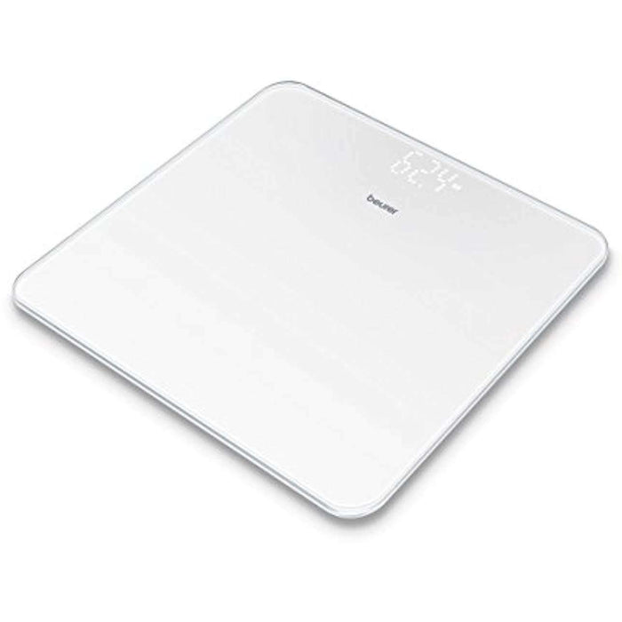 Beurer GS225 Glass Digital Weighing Scales, White