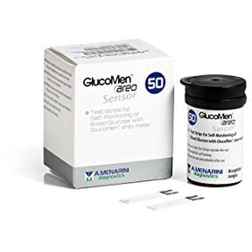 Wellnostics - Glucomen AREO Glucose Diabetes Test Strips (Pack of 50)