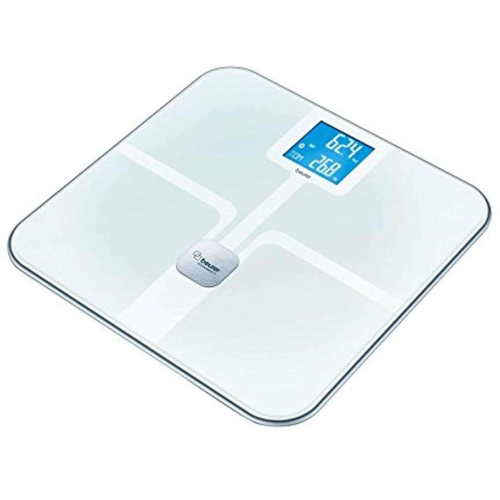 Wellnostics - Beurer BF 800 White Diagnostic Bathroom Scales with Bluetooth Smart and Health Manager