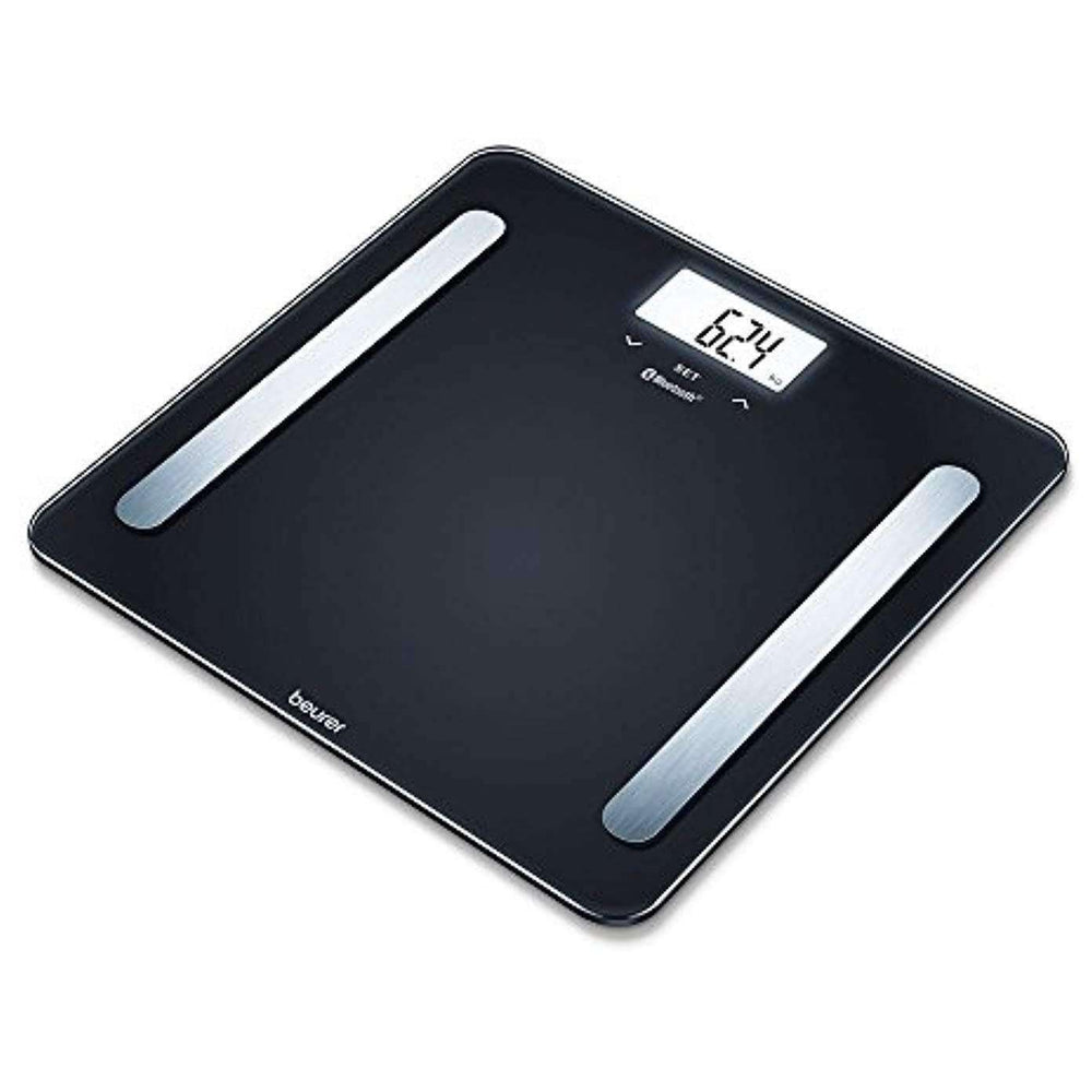Wellnostics - Beurer BF600 Diagnostic Connected Bathroom Scale with HealthManager App, Black