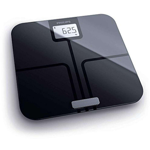 Wellnostics - Philips Smart Body Analysis Scale for BMI, Body Fat and Weight Measurements, Bluetooth connectivity, Black