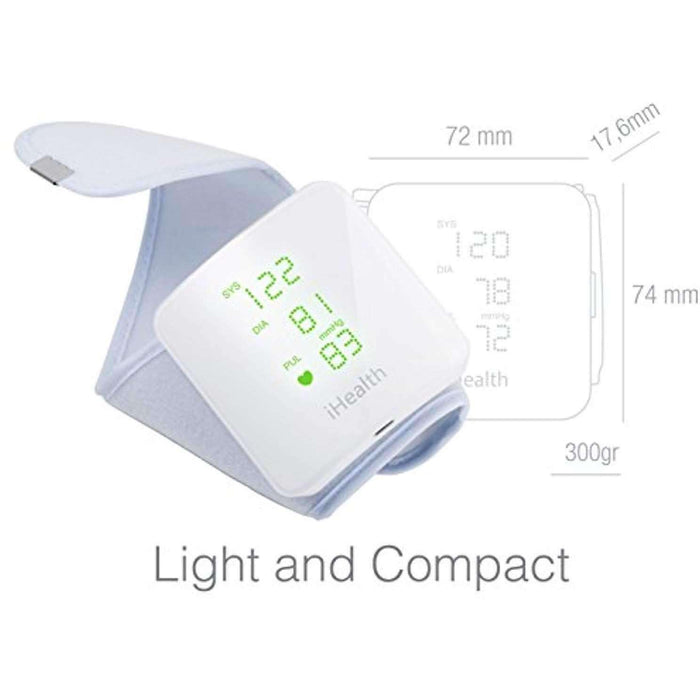 Wellnostics - iHealth VIEW BP7S Smart Wrist Blood Pressure Monitor with Display