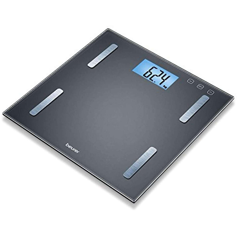 Wellnostics - Beurer BF180 Diagnostic Bathroom Scale with Illuminated LCD Display
