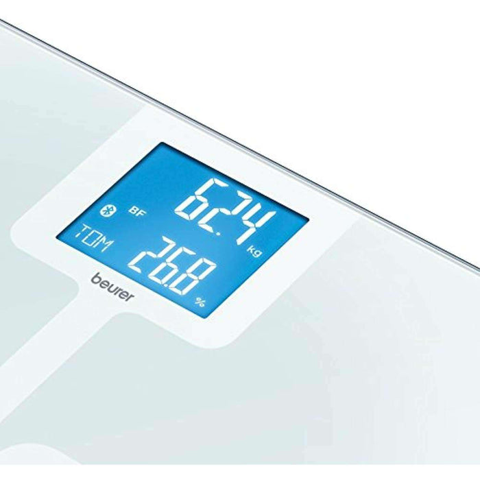 Beurer BF 800 White Diagnostic Bathroom Scales with Bluetooth Smart and Health Manager