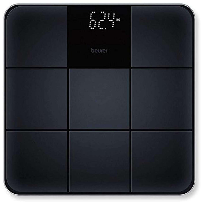 Wellnostics - Beurer GS235 Bathroom Scale with Sleek Non-Slip Tile Effect Surface