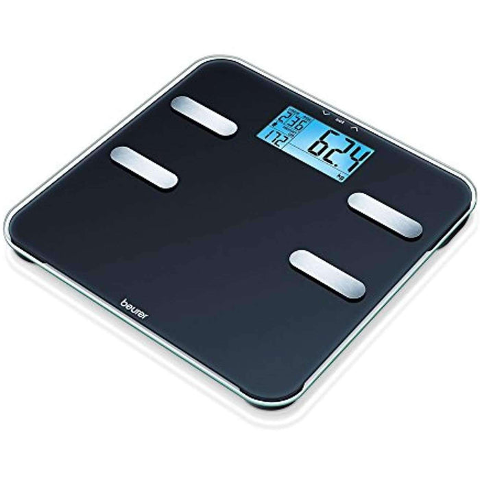 Wellnostics - Beurer BF185 Diagnostic Scales with Body Fat Scale with Extra Large LCD Display