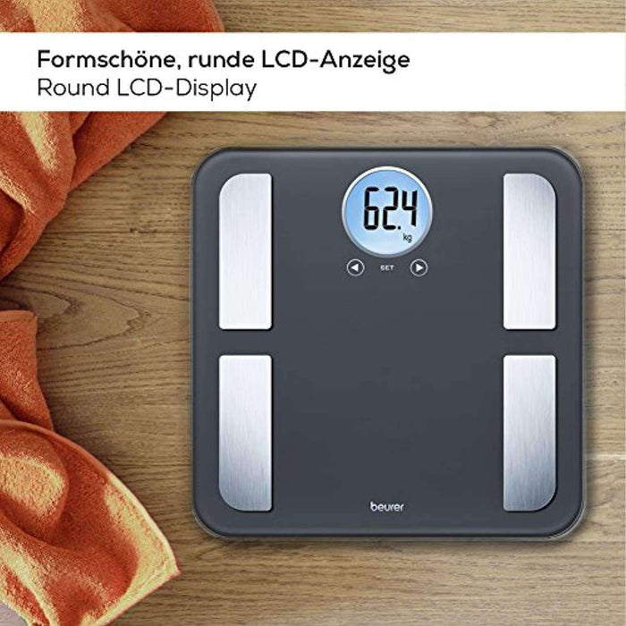 Wellnostics - Beurer BF195 Stylish Diagnostic Scale With Calorie Counter