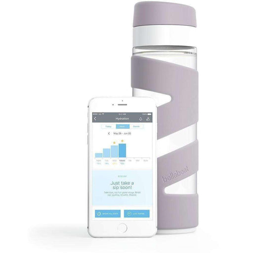Wellnostics - Bellabeat Spring Violet Ice Smart Water Bottle Hydration Tracker