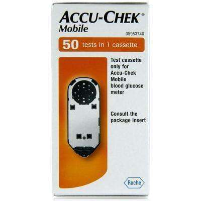 Wellnostics - Accu Chek Mobile Test Cassettes Pack of 50