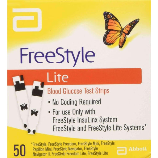 Wellnostics - Freestyle Lite Test Strips Pack of 50