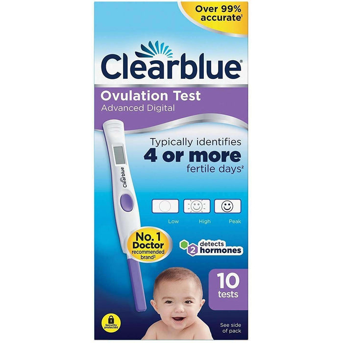 Clearblue Advanced Digital Ovulation Test Kit Pack of 10