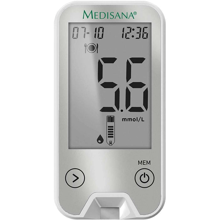 Wellnostics - Medisana Medi Touch 2 Blood Glucose Monitor with Bluetooth including Starter Set