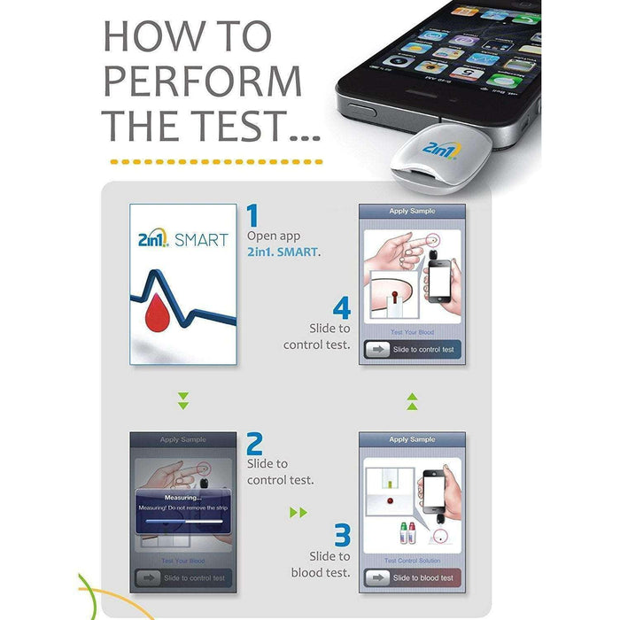 Wellnostics - VPD 2in1 Smart Blood Glucose Meter for Apple iPhone & iPad